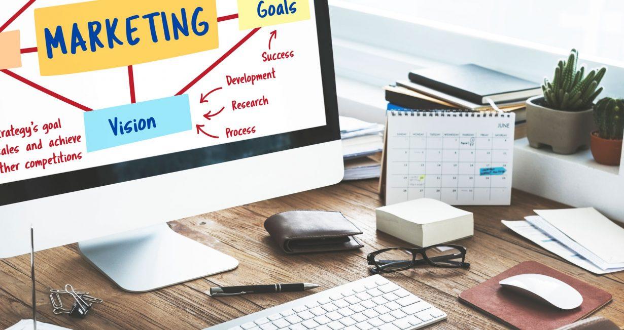 marketing branding planning vision goals concept
